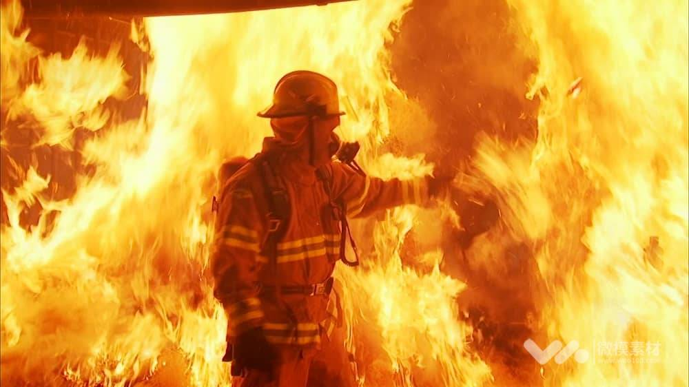 震撼消防部队形象宣传视频素材
