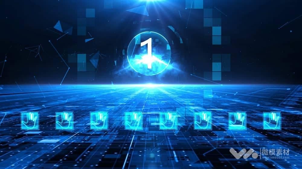 科技开业手掌印启动仪式AE模板