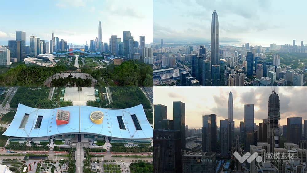 深圳航拍 京基一百 4K视频素材