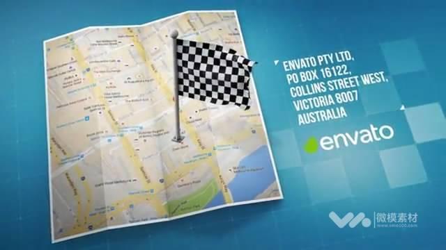 Map地图上进行定位标记 AE模板